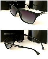Солнцезащитные очки мужские поляризационные линзы черные Armani