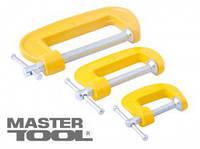 """MasterTool  Струбцины столярные тип """"G"""" набор 3 шт (25мм; 45мм; 70мм), Арт.: 07-0300"""