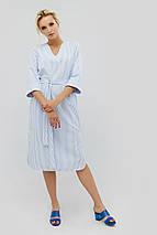 Полосатое хлопковое прямое платье с поясом (Torel crd), фото 3