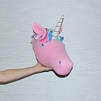 Голова на стену Единорог розовый, фото 1