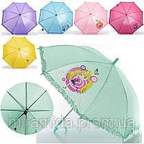 Детский однотонный зонтик для девочки