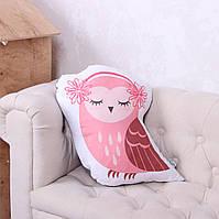 Подушка Сова розовая, фото 1