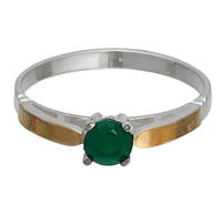 """Серебряное кольцо с золотыми накладками """"Соблазн"""""""