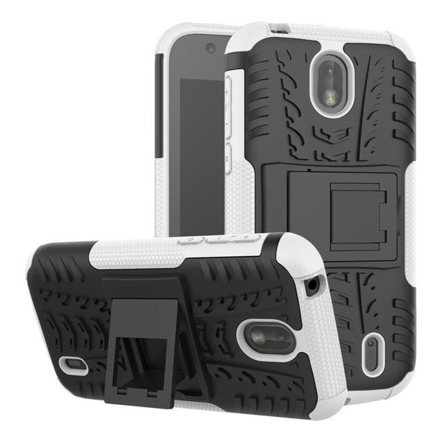 Чехол Nokia 1 противоударный бампер белый