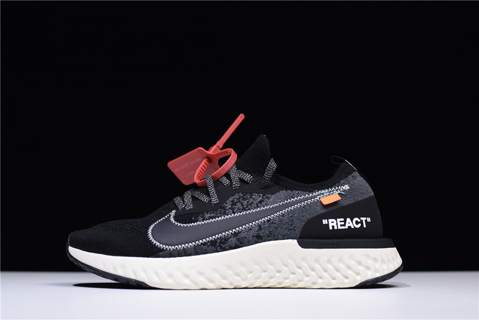 Кроссовки мужские Off White x Nike Epic React Flyknit / ERF-017 (Реплика)