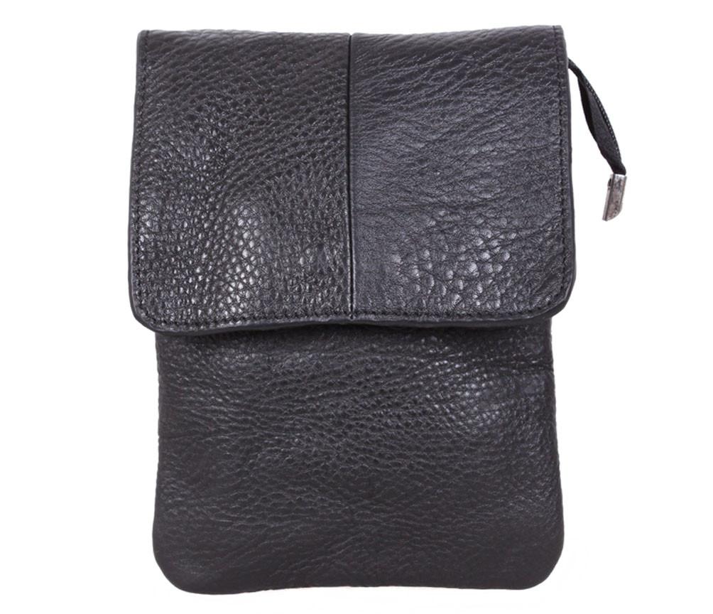 Мужская кожаная сумка MESS8136BL черная