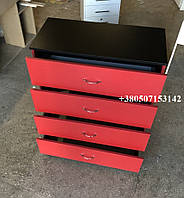 Красный комод для дома, офиса, салона, косметологического кабинета,  модель V231, фото 1