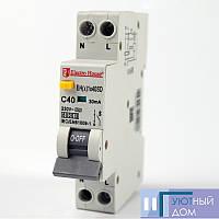 ДИФ Автомат 40А 1P+N(1 модуль) 6kA EH(x) 1x40SD