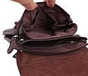 Мужская кожаная сумка MESS8135-2CF коричневая, фото 8