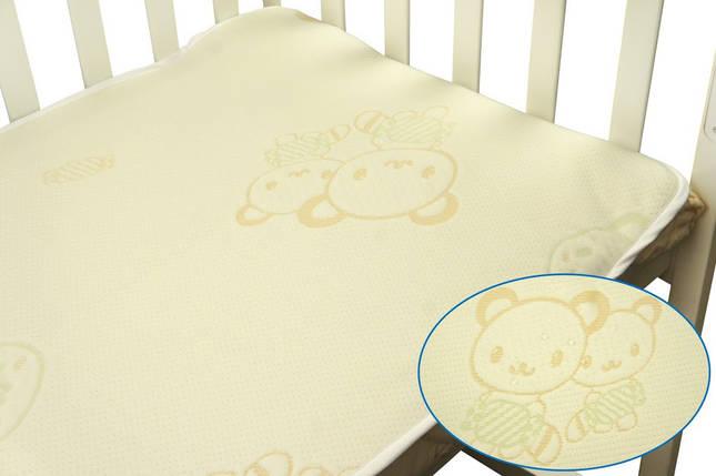Непромокаемый наматрасник в детскую кроватку 60х120 жаккард, фото 2