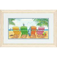 Набор для вышивания крестом Пляжный кресла/Beach Chairs DIMENSIONS 70-35325