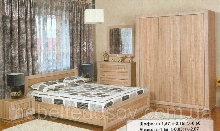 """Мебель для спальни """"Корвет"""", акация (БМФ)"""