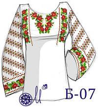 Б-07  Заготовка під вишивку жіночої сорочки