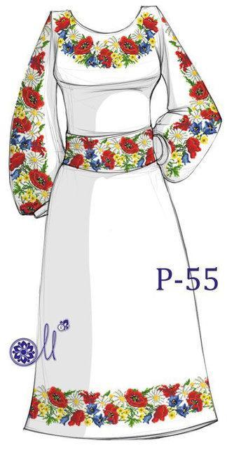 Р-55 Заготовка для вишивання плаття бісером 0bd09858f7fe9