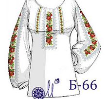 Б-66  Заготовка під вишивку жіночої сорочки