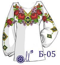 Б-05  Заготовка під вишивку жіночої сорочки