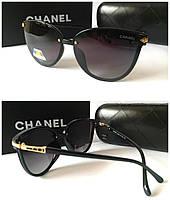Женские очки черные Chanel новинка линзы с поляризацией