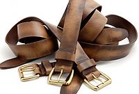 Кожаные мужские ремни для брюк