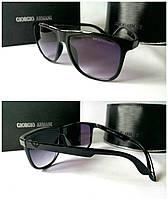Солнцезащитные очки мужские черные Armani