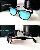 Солнцезащитные очки мужские линзы голубые зеркальные Armani