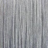 Шторы нити Люрекс серые с серебром, фото 1