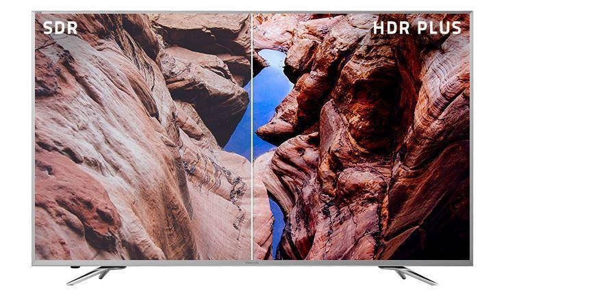 Телевизор Hisense H55NEC5605 / 55 дюймов / Ultra HD, HDR, Smart-TV