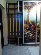 шкаф-купе в прихожей фотопечать на дверях