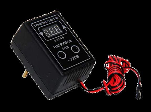 Регулятор температуры. Терморегулятор Dalas 10 А/ 2,2 кВт, фото 2