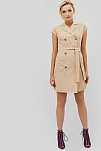 Двубортное льняное платье бежевого цвета (Liksi crd), фото 3