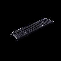 Решетка дренажного канала 126х1000х20 чорна 1,5т