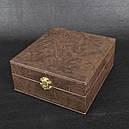 """Набор ручной работы """"Охота"""" (4 рюмки х 30мл + фляга 0.27л), бронза, кейсе, фото 4"""