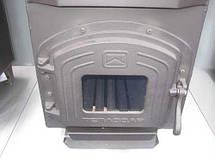 Трубная печь на дровах ТОП-140 с чугунной дверцей со стеклом, фото 3