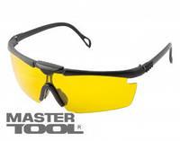 MasterTool  Очки защитные нейлоновые, линзы из поликарбоната, желтые, Арт.: 82-0054