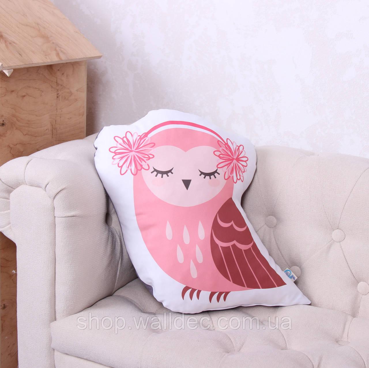 Подушка Сова розовая