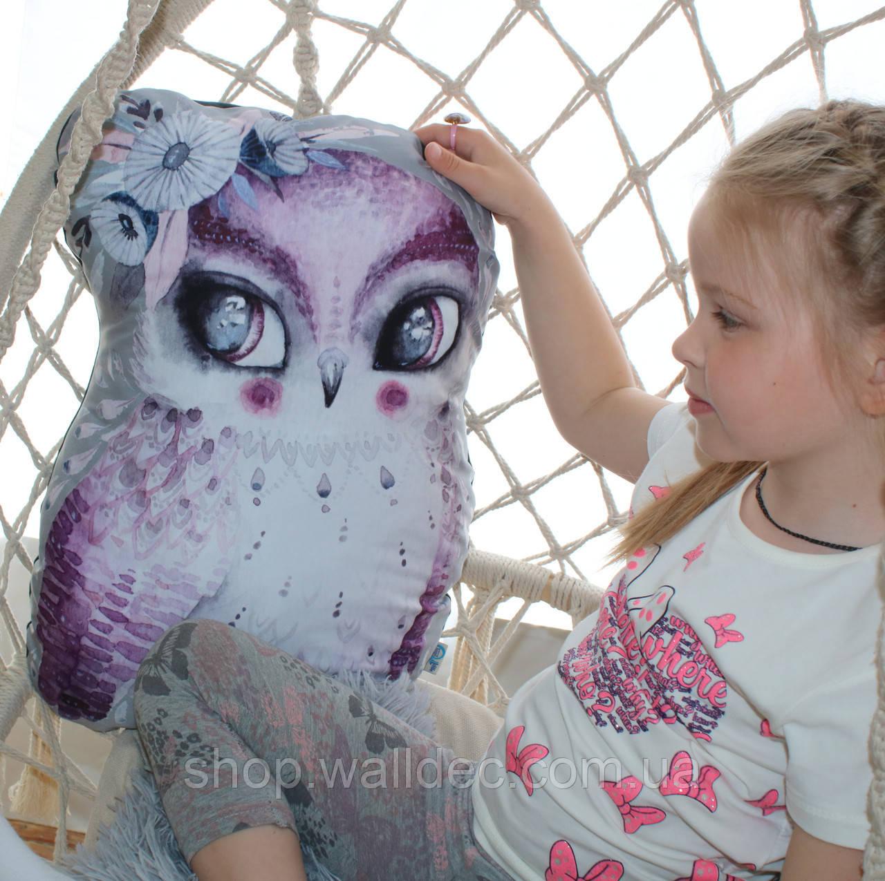 Подушка Сова фиолетовая 47см