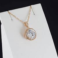 Замечательный кулон с кристаллами Swarovski + цепочка, покрытые золотом 0890
