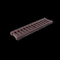 Решетка дренажного канала коричневая 12,5т 126х500х20