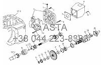 Коробка отбора мощности в сборе 720r/min на YTO X804