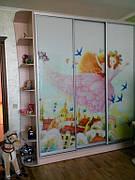 детская комната шкаф - купе, стенка для игрушек, кровать