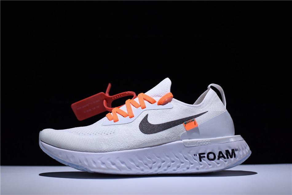 Кроссовки женские Off White x Nike Epic React Flyknit / ERF-030 (Реплика)