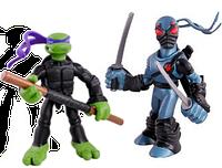 Набор мини-фигурок Донателло и Фут Ниндзя - Donatello and Foot Tech Ninja, 4Kids, 7СМ, Playmates