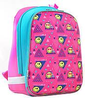 Рюкзак в школу YES H-12 Smiley, 554497, розовый