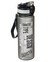 """Крутая бутылка для воды """"Character"""" 500мл с трубочкой"""
