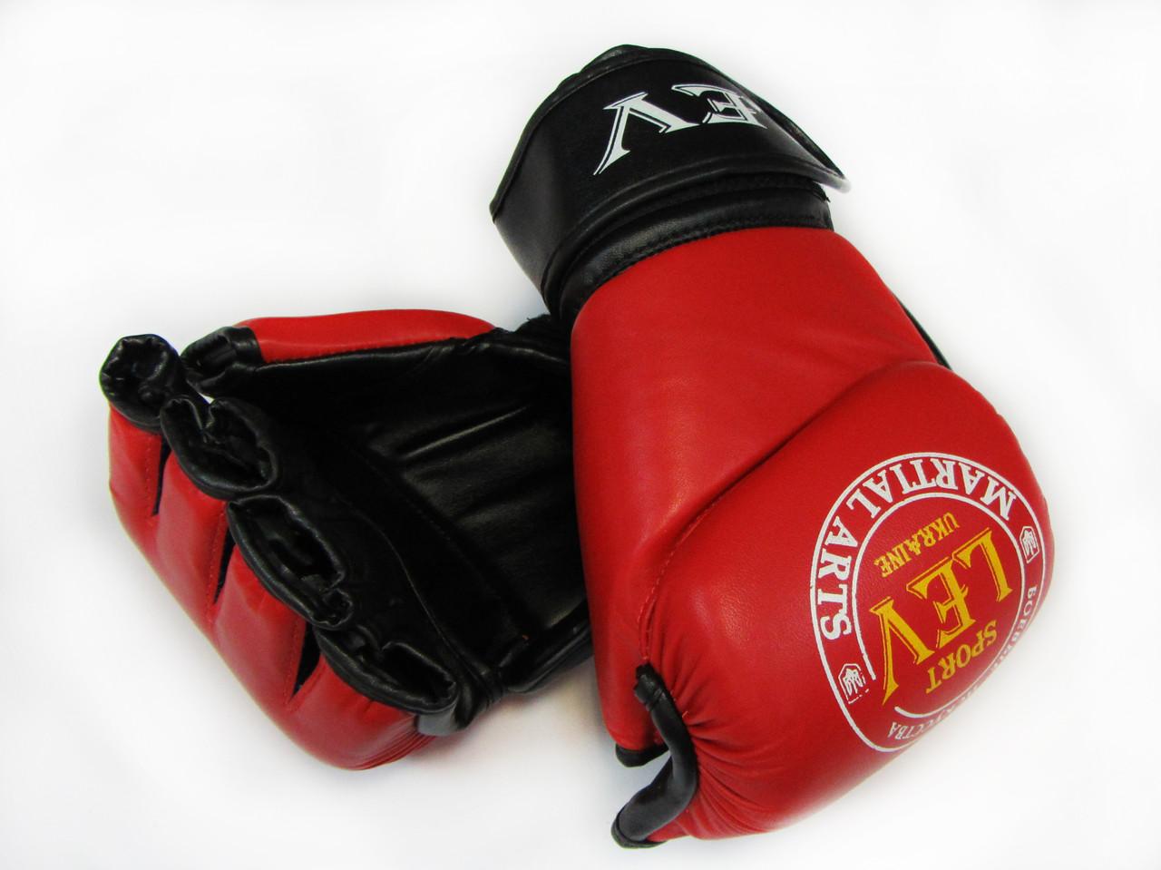 Перчатки для рукопашного боя «Фри Файт» кожа (Free Fight) р-рМ