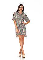 Платье рубашка с цветочным принтом. П112, фото 1