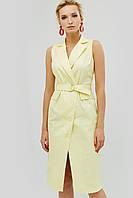 Женское летнее платье на запах из коттон-сатина (Folin crd)