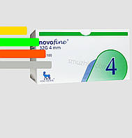 Голки для інсулінових шприц-ручок Новофайн 4 мм - Novofine 32G 4mm, #100