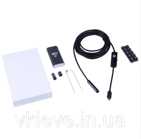 Эндоскоп wi fi с фонариком. Диаметр 8 мм. Мягкий кабель