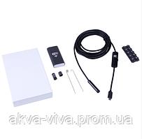 Эндоскоп wi fi с фонариком. Диаметр 8 мм. Мягкий кабель (КВФ-803м)
