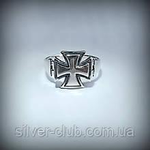 1033 Кольцо Мальтийский Крест серебро 925 пробы